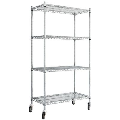 Chrome Trolley with Standard Shelves