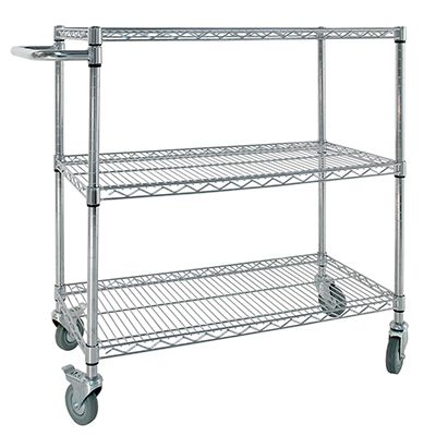 Small Chrome Trolley With Handle